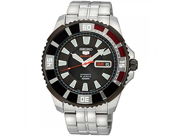 Seiko 5 Sports Automatic Divers Black Ion-plated Bezel Mens Watch SRP207K1