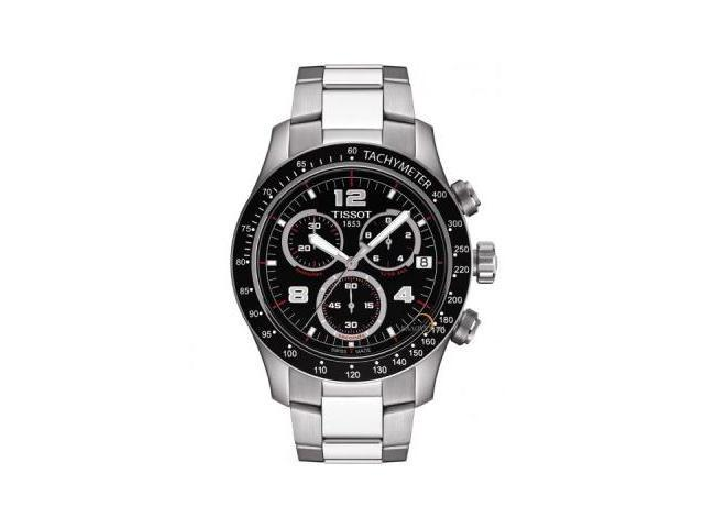 Tissot V8 Chronograph Black Dial Mens Watch T0394171105702