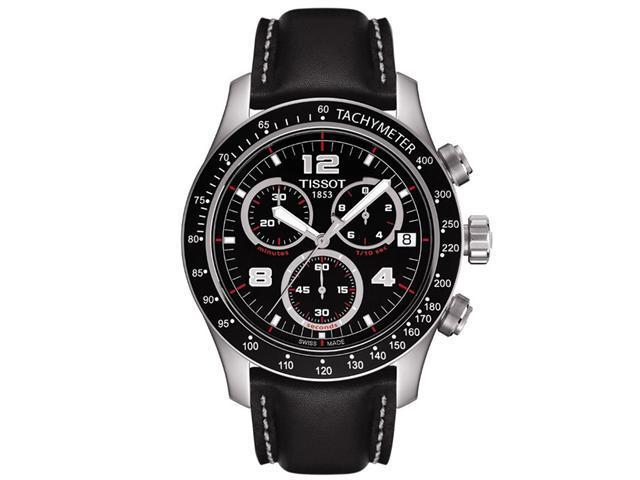 Tissot Sport V8 Black Dial Black Leather Mens Watch T039.417.16.057.02
