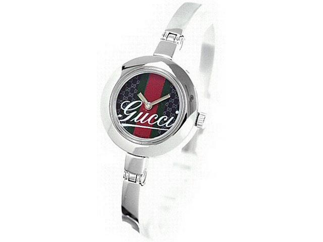 Gucci Striped and Patterned Dial Bangle Ladies Watch YA105521