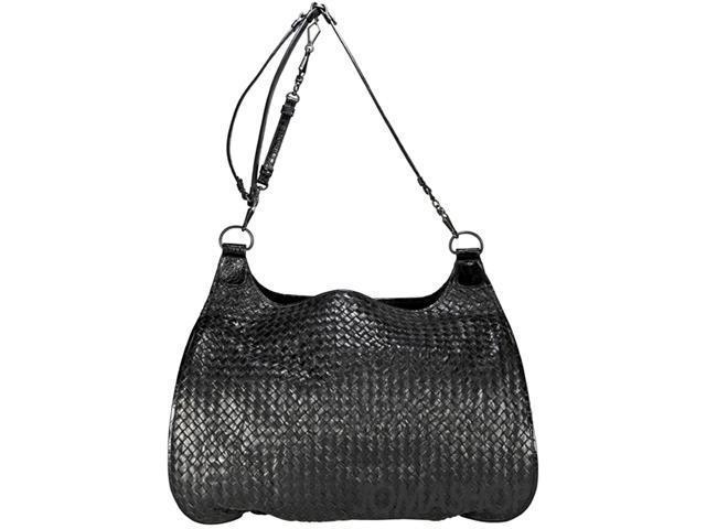 Bottega Veneta Woven Black Leather Extra-Large Shoulder Bag 180180/VCCE/1000