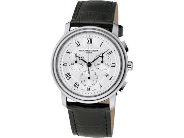 Frederique Constant Slimline Silver Guilloche Dial Steel Mens Watch 245M4S6B