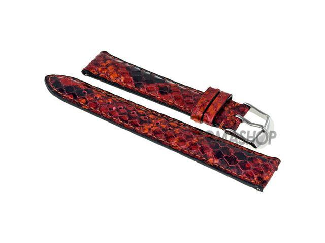 Michele Red Multi Embossed Fashion Leather 18 mm Strap 18AA320995