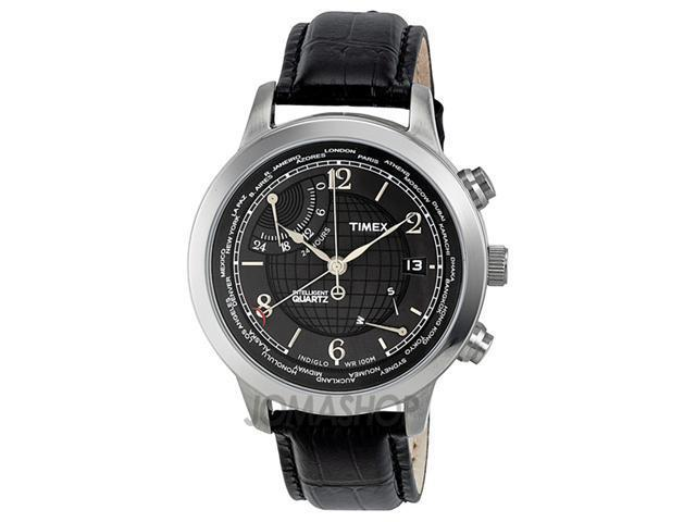 Timex Intelligent World Time Charcoal Dial Mens Watch T2N609