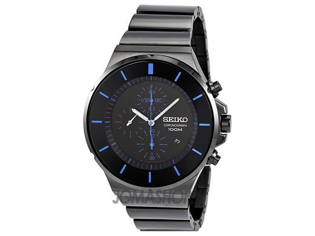 Seiko Chronograph Black Dial Mens Watch SNDD59