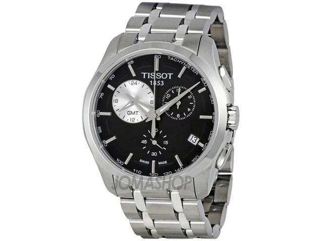 Tissot Couturier GMT Black Dial Trend Mens Watch T0354391105100