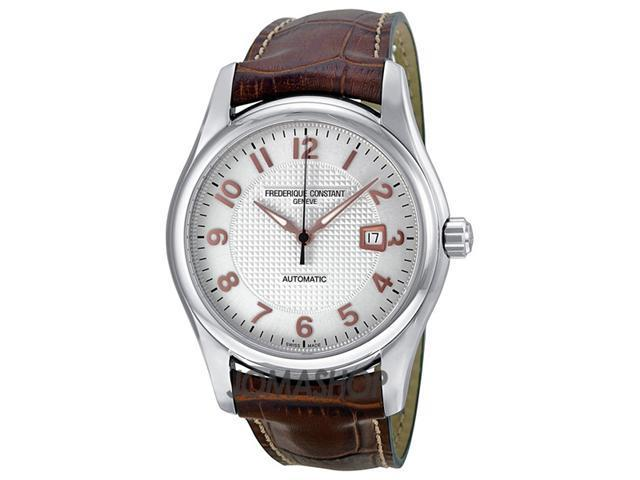 Frederique Constant Runabout Silver Dial Brown Leather Mens Watch 303RV6B6
