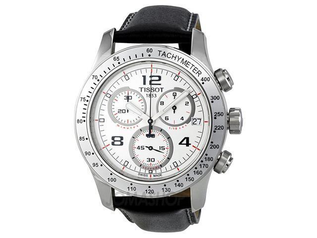 Tissot V8 Chronograph White Dial Stainless Steel Mens Watch T0394171603702