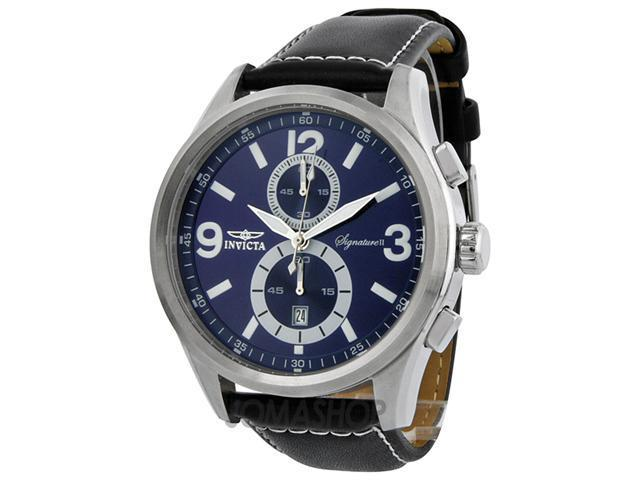 Invicta Signature II Elegant Blue Dial Chronograph Mens Watch 7416