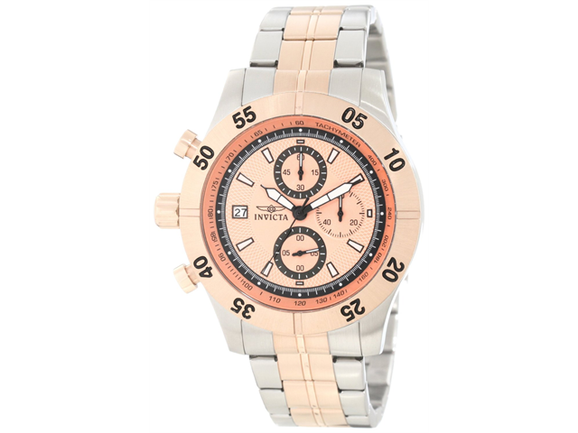 Invicta Specialty Chronograph Champagne Dial Two-tone Steel Mens Watch 11277