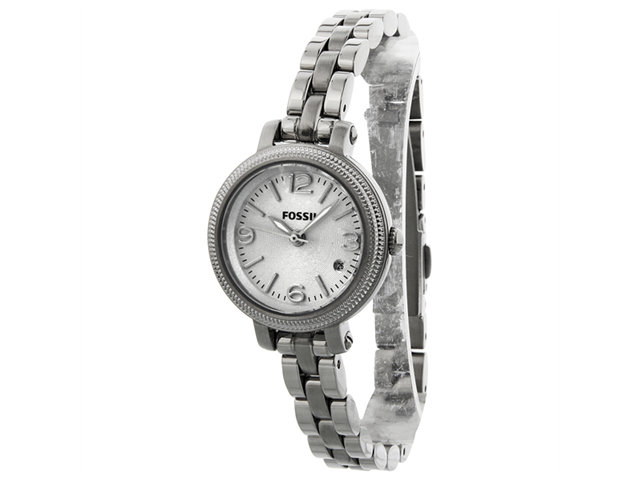 Fossil Heather Silver 26mm Dial Stainless Steel Ladies Watch ES3135