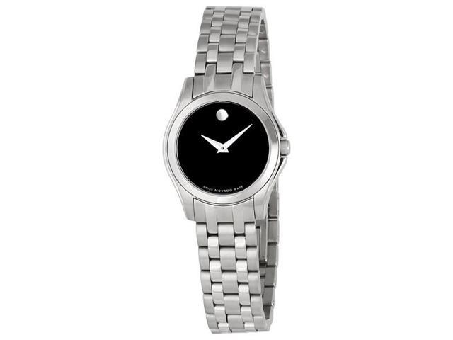 Movado Corporate Exclusive 0605974 Women's Black Dial Stainless Steel Analog Watch