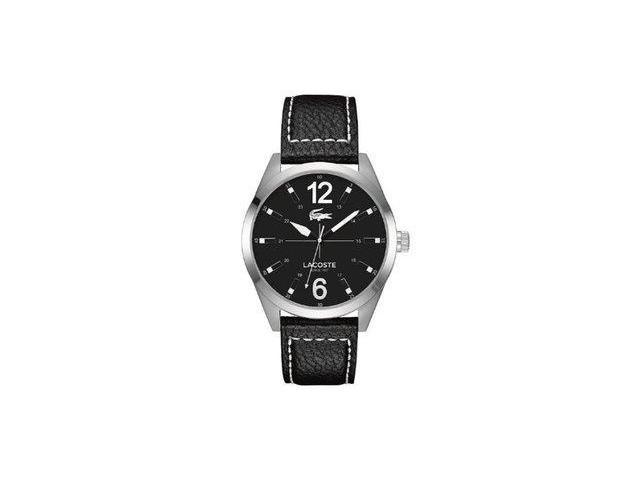 Lacoste Montreal Black Dial Black Laether Mens Watch 2010695