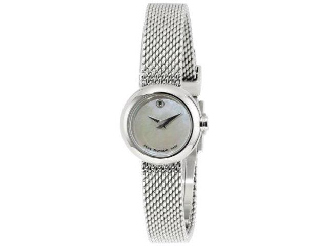 Movado Mother of Pearl Dial Stainless Steel Ladies Watch 0606705