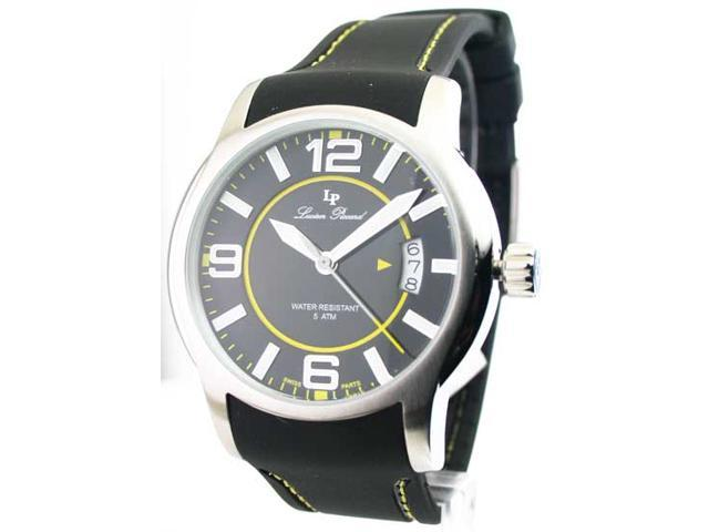 Mens Lucien Piccard Rubber Date Watch 28163YL