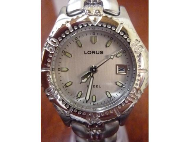 Women's Lorus By Seiko Silver Stainless Steel Dress Date Watch