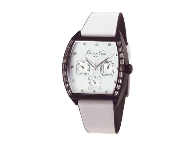 Women's Kenneth Cole New York Sporty White Leather Strap Watch KC2499