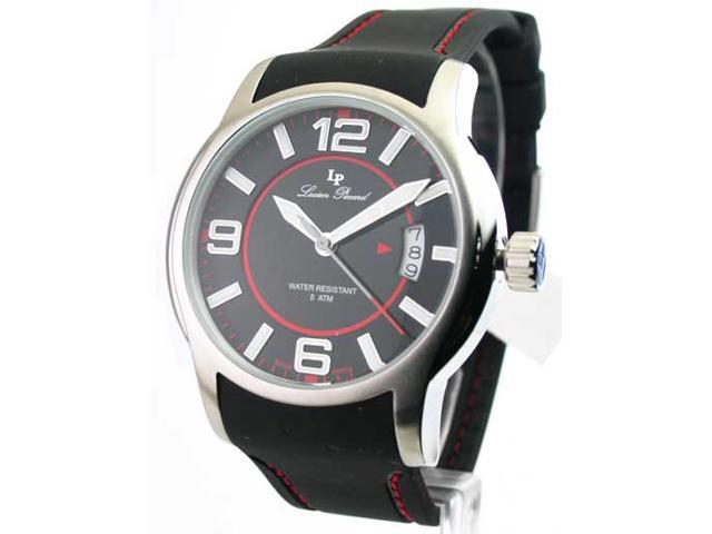 Mens Lucien Piccard Rubber Date Watch 28163RD