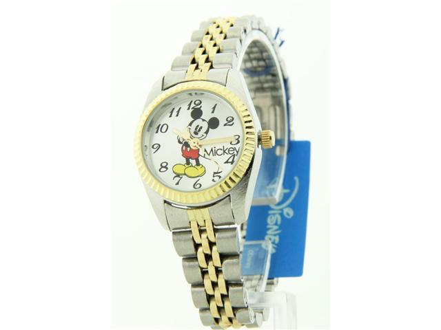 Disney Women's Mickey Mouse Two-tone Stainless Steel Band Watch  MCK618