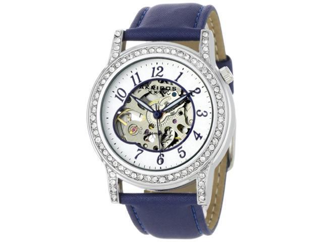 Akribos XXIV Women's AKR475BU Bravura Collection Skeleton Automatic Watch
