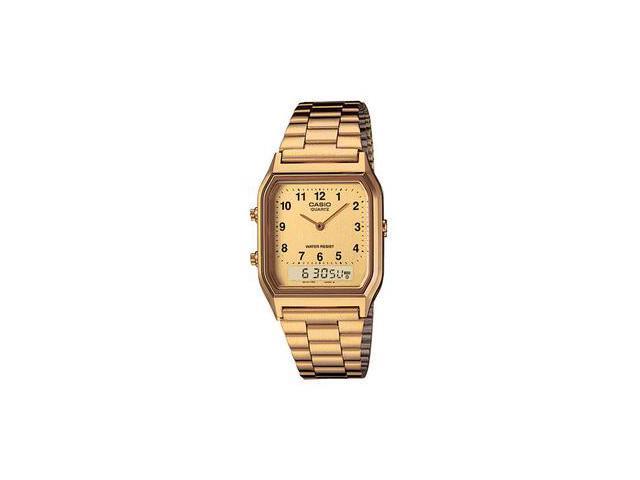 Casio AQ230GA-9B Gold Digital Analog Mens Watch