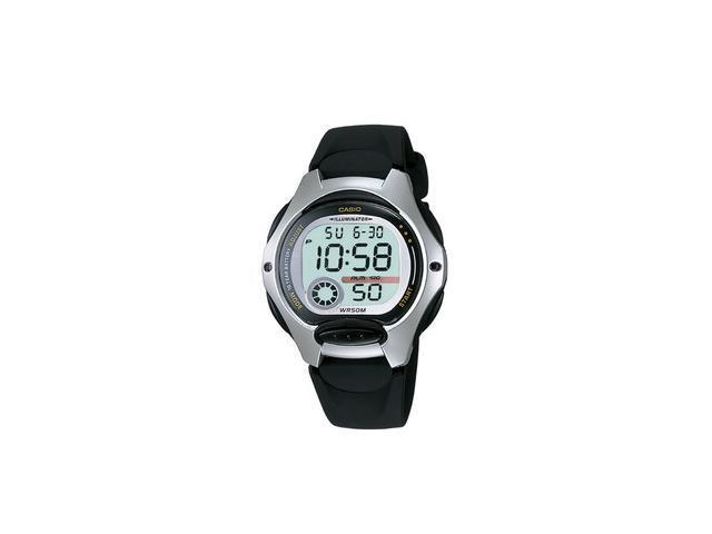 Casio LW200-1AV Women's Digital Chronograph Sports Watch w/ Black Resin Band