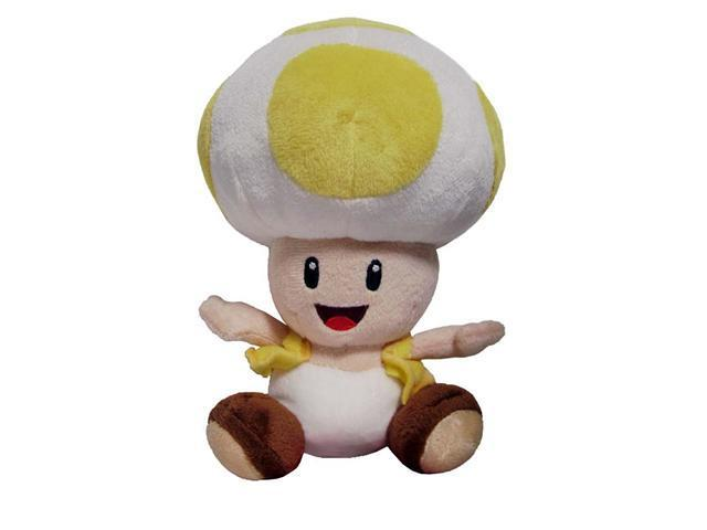 "Nintendo Super Mario Bros. Wii Yellow Toad 7"" Plush Doll"