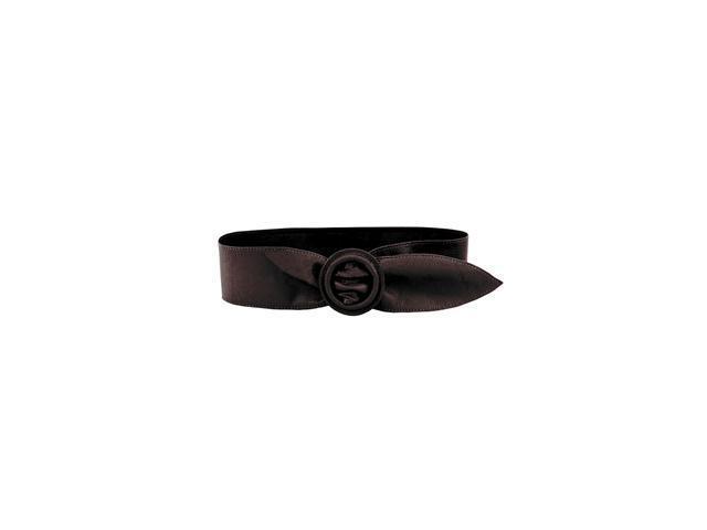 Luxury Lane Women's Wide Leather Oval Buckle Belt in Black or Brown