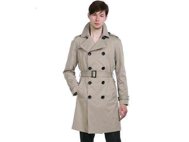 BGSD Men's Classic Trench Coat in Black or Tan