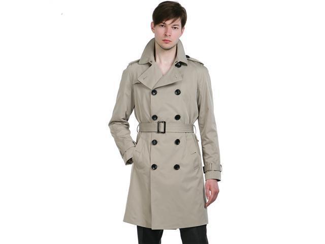 BGSD Men's Classic Trench Coat in Black or Tan