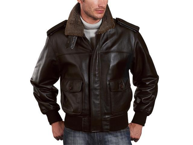 Landing Leathers Men's Cowhide Leather Flight Jacket - Brown X-Large