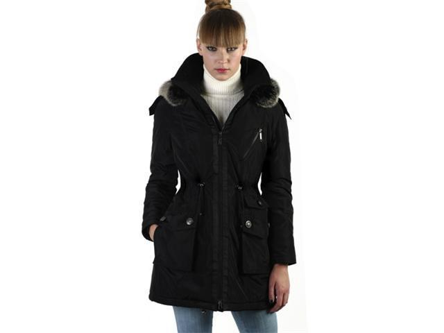 Jessie G. Women's Thinsulate Filled Parka Coat with Removable Fox Fur Trim