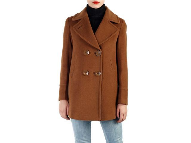 Phistic Women's Cashmere Blend A-Line Pea Coat in Black, Chocolate, or Pecan