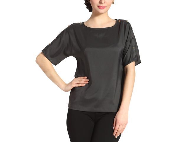 Jessie G. Women's 'Paige' Button Sleeve Shirt - Charcoal 6