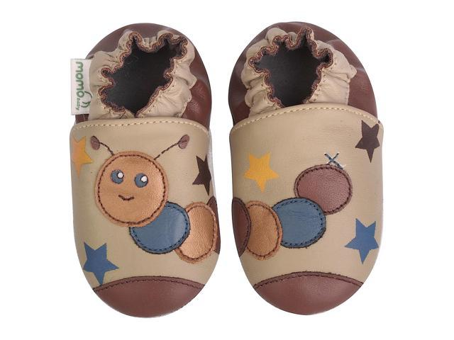 Momo Baby Infant/Toddler Soft Sole Leather Shoes - Caterpillar Taupe