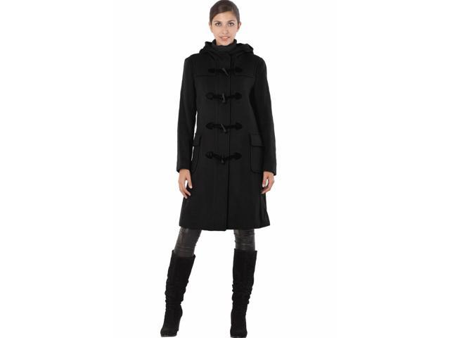 Phistic Women's 'Cindy' Cashmere Blend Toggle Duffle Coat - Black S