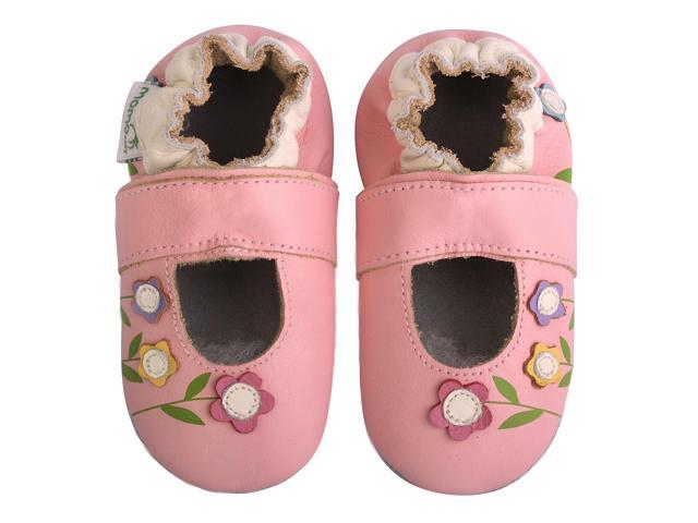 Momo Baby Girls Soft Sole Leather Crib Sandal Shoes