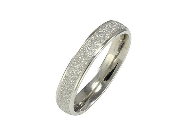 Stainless Steel Sparkle 3.8mm Band Ring - Women (Size 7)