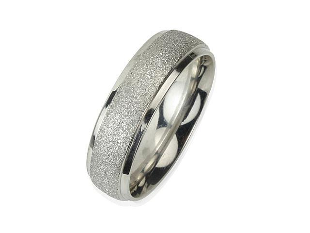 Stainless Steel Sparkle 5.8mm Band Ring (Size 10)