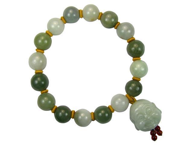 12mm Jade Beaded Buddha Charm Bracelet 8