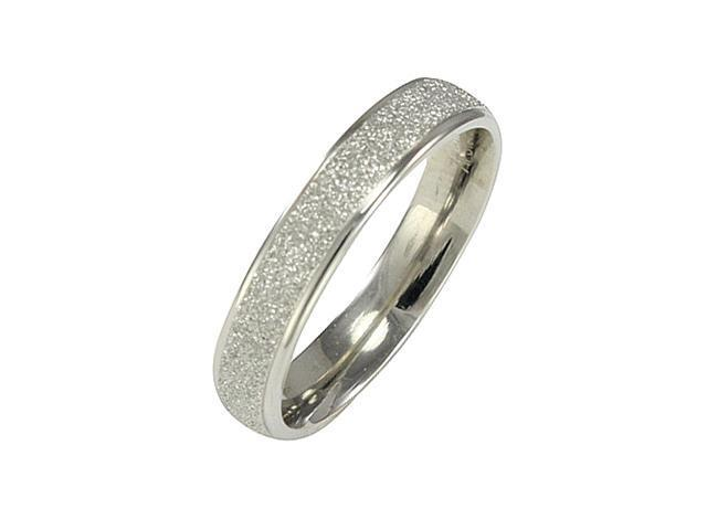 Stainless Steel Sparkle 3.8mm Band Ring - Women (Size 5)