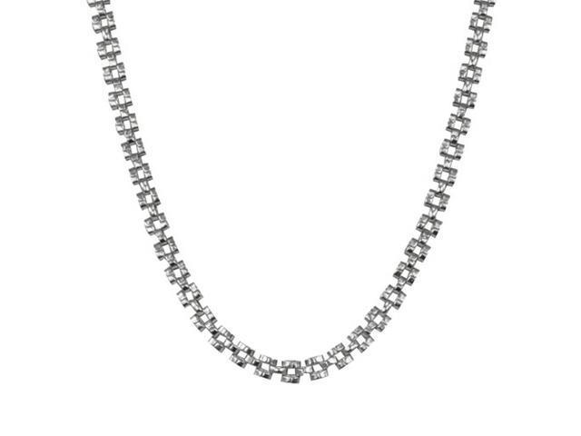 4.5mm Stainless Steel Weave Pattern Chain Link Necklace 20