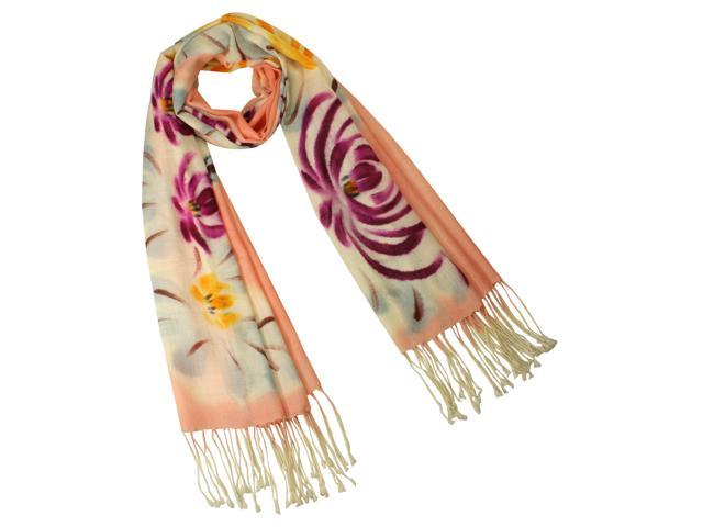Dahlia Women's Wool Blend Scarf - Chrysanthemum Blooming