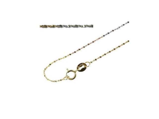 18k Tri-Color Gold 0.8mm All Star Chain 18