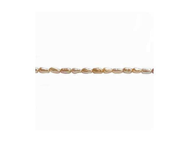Single Strand Cultured Pearl Silver Necklace, Peach Pink (16
