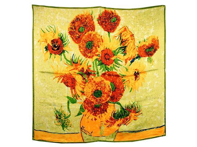 100% Satin Charmeuse Silk Van Gogh's