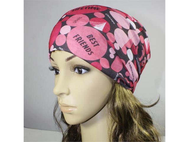 Multi-functional Microfiber Head Wear - Breast Cancer (Pink)