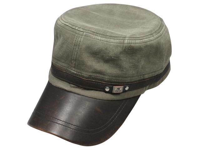 Men's Fashionable Denim Dyed Style Cotton Adjustable Cap - Gray Green