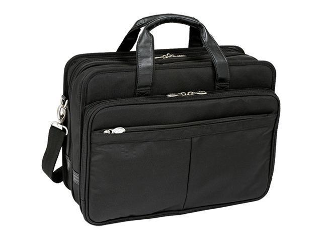 McKlein Walton Nylon Exp. Double Compartment Case w/ Removable Sleeve