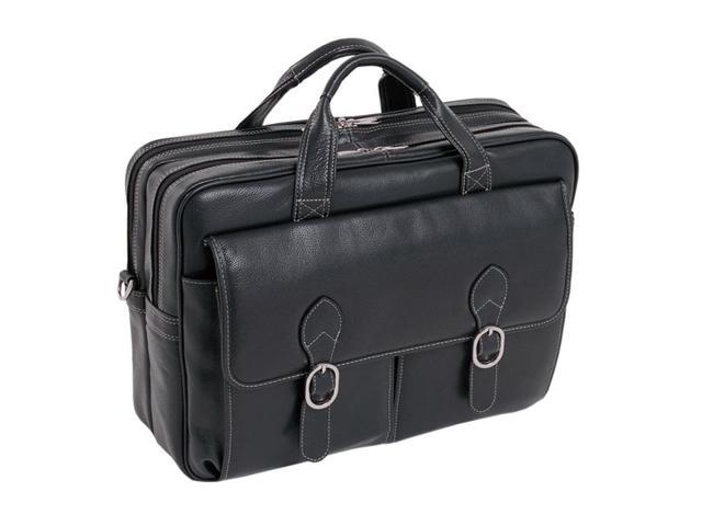 Mcklein Kenwood Leather Double Compartment Laptop Case